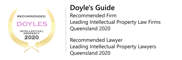 Doyle's Guide 2020 Recommended Firm & Recommended Lawyer - Intellectual Property Queensland